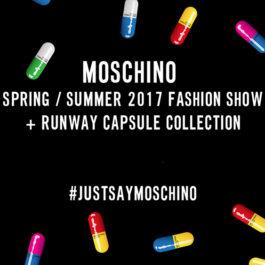 Live Stream: Moschino Womenswear Spring/Summer 2017 Show