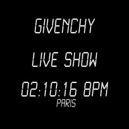 Live Stream: Givenchy Womenswear Spring/Summer 2017 Show