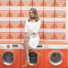 Hermèsmatic, a dedicated laundromat pop-up by Hermès