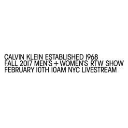 Live Stream: Raf Simons's debut Calvin Klein runway show